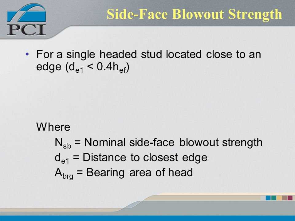 Side-Face Blowout Strength