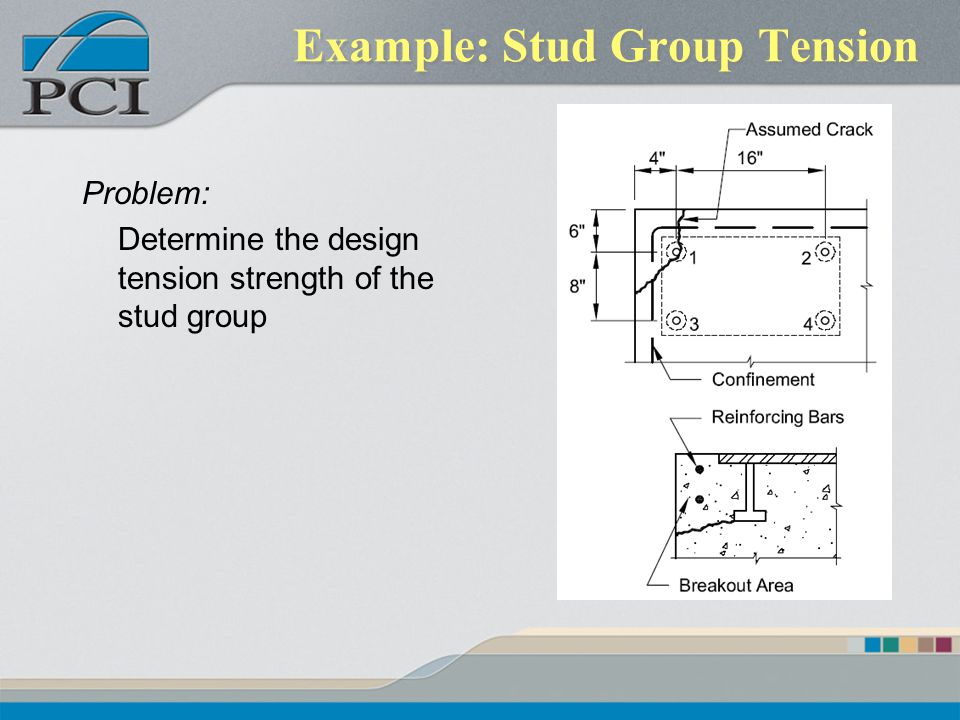 Example: Stud Group Tension