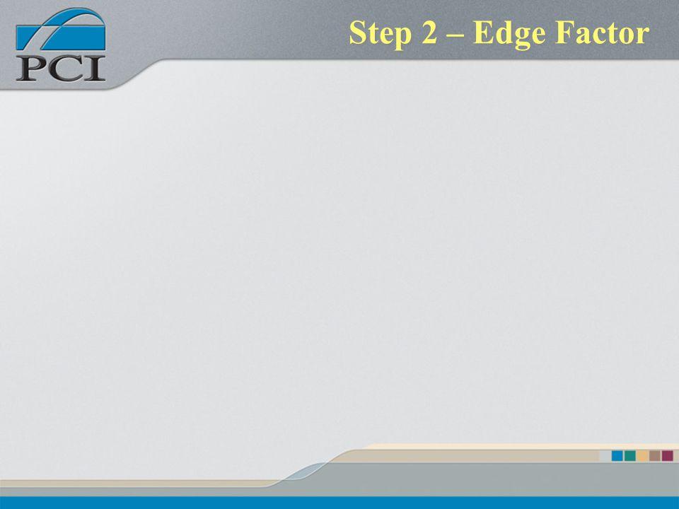 Step 2 – Edge Factor