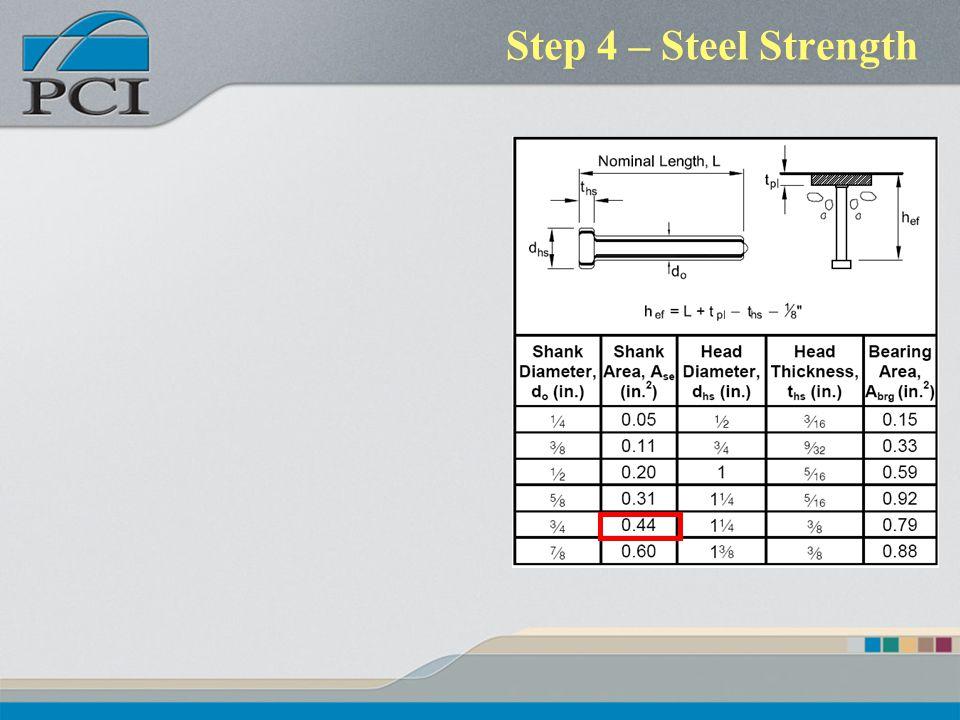 Step 4 – Steel Strength