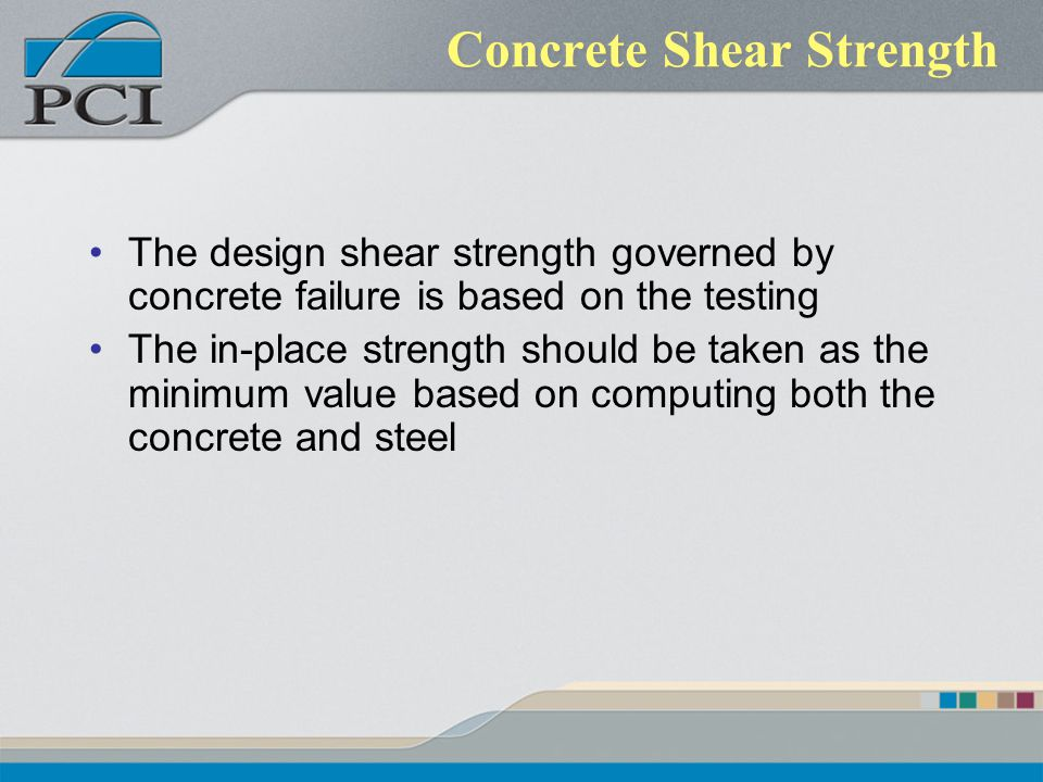 Concrete Shear Strength
