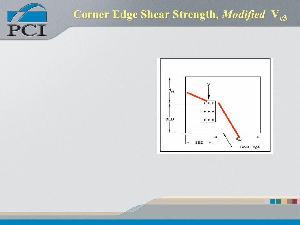 Corner Edge Shear Strength, Modified Vc3