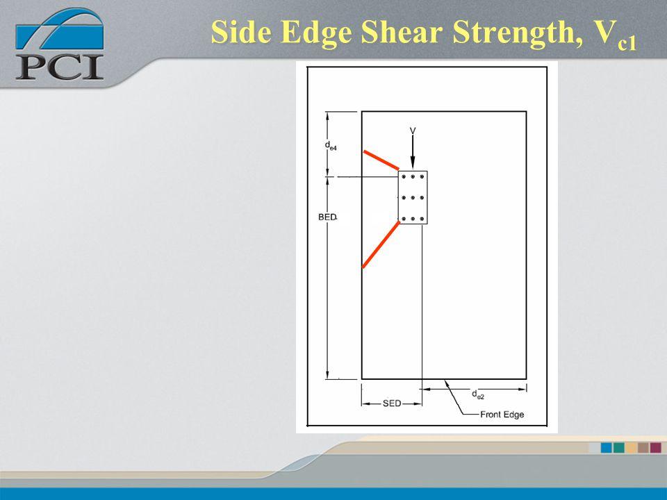 Side Edge Shear Strength, Vc1
