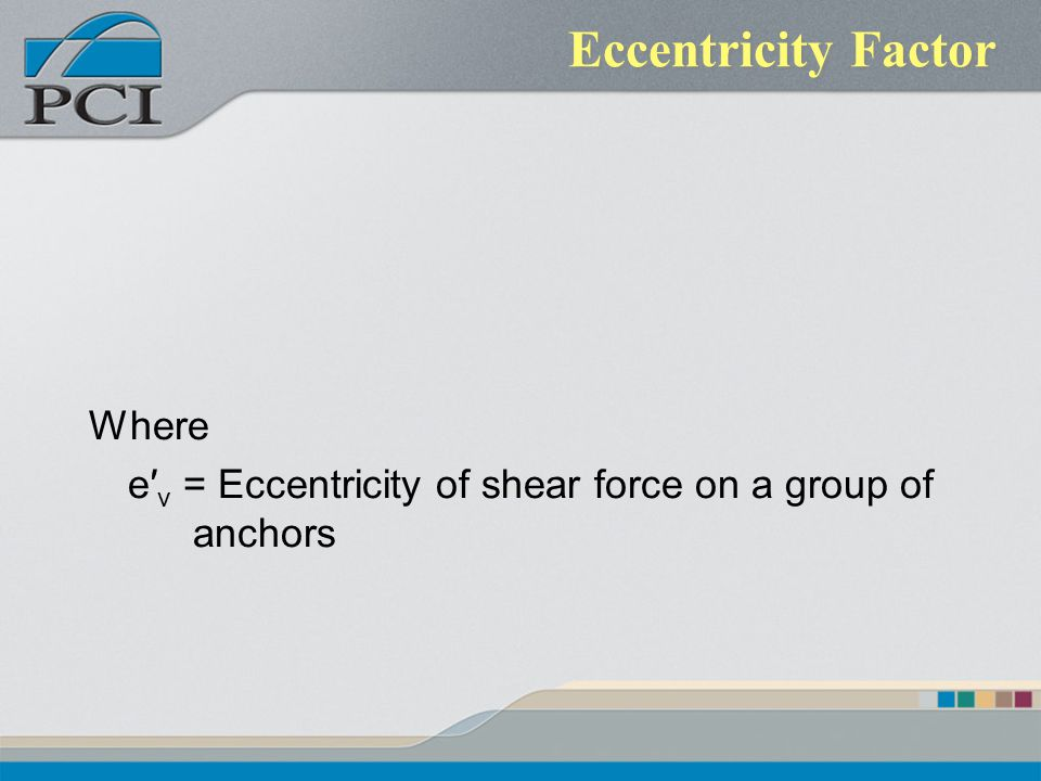 Eccentricity Factor Where