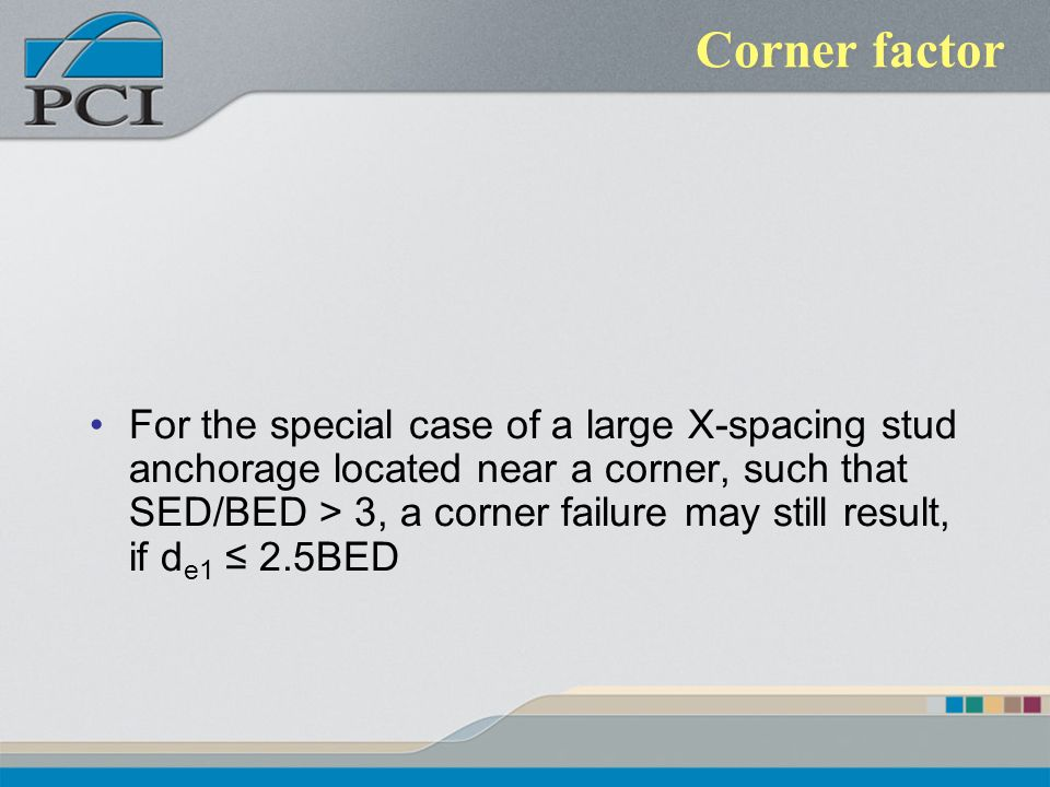 Corner factor