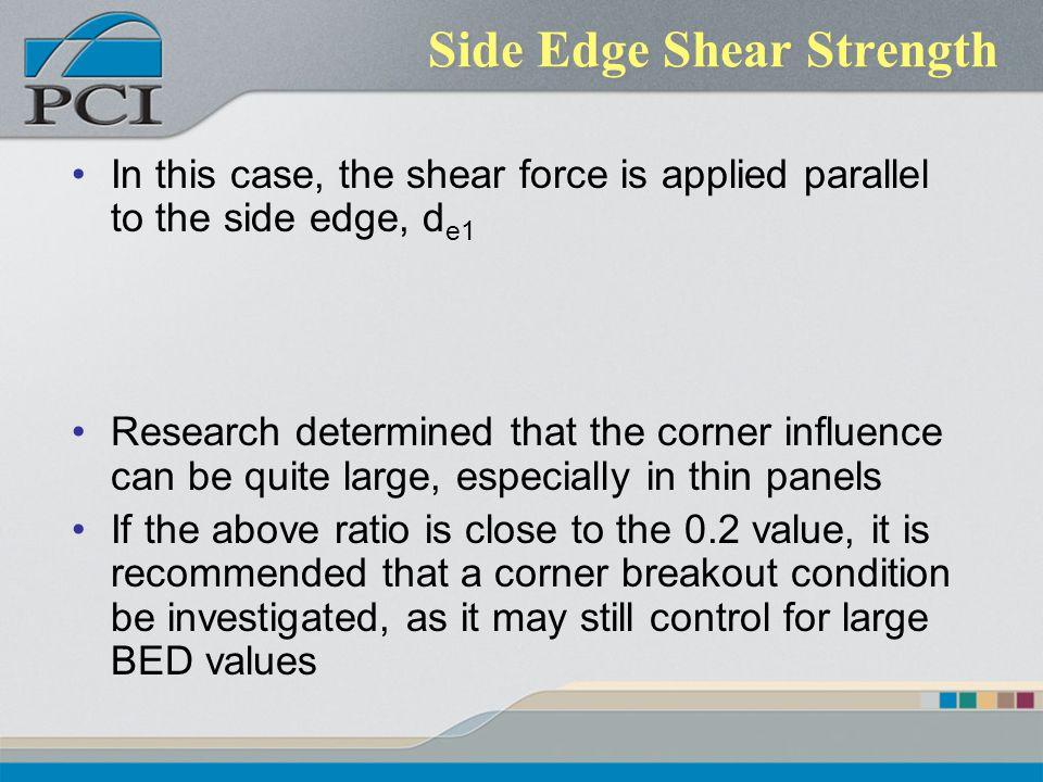 Side Edge Shear Strength