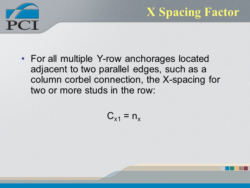 X Spacing Factor