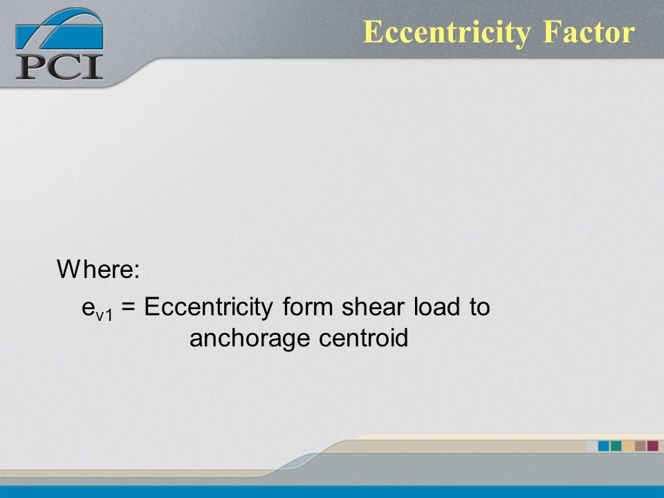 Eccentricity Factor Where: