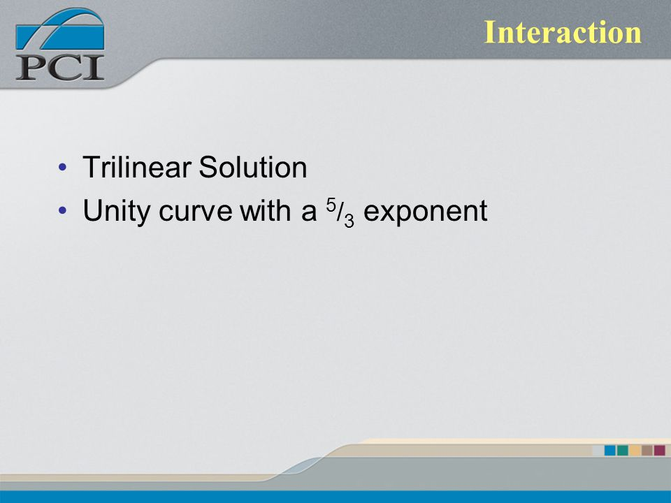 Interaction Trilinear Solution Unity curve with a 5/3 exponent