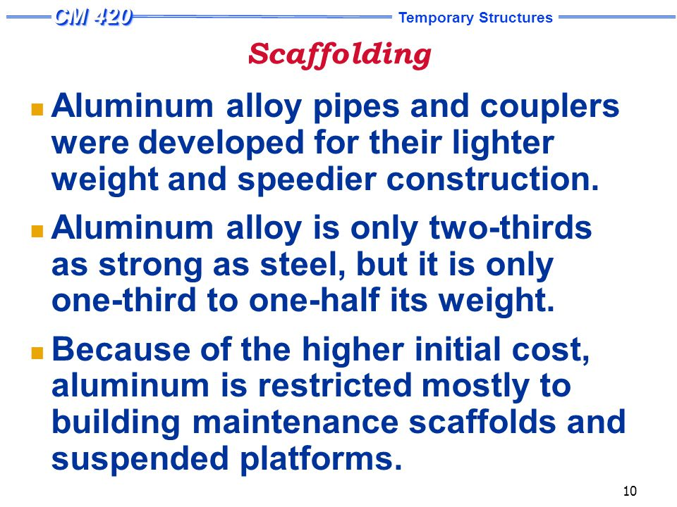 Scaffolding General Design Considerations