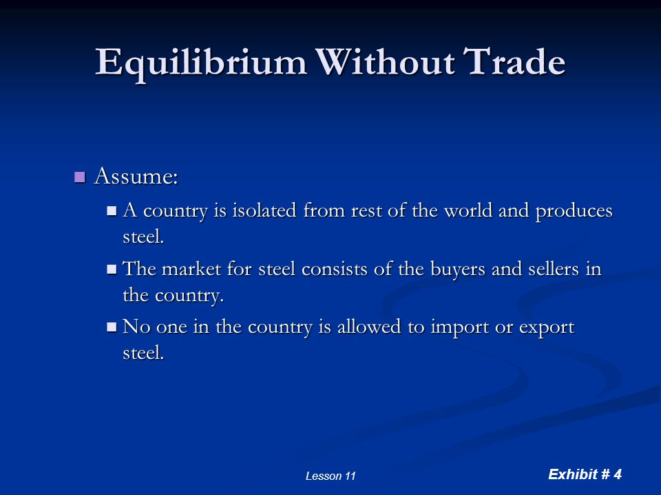 Equilibrium without International Trade