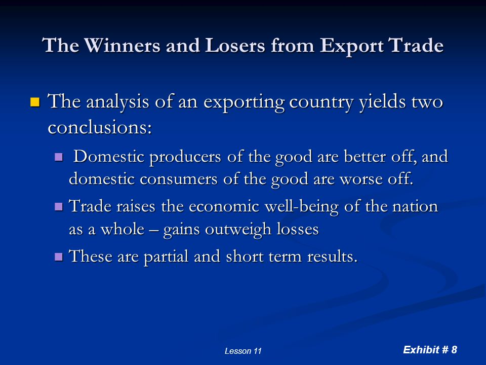 The Gains and Losses of an Importing Country