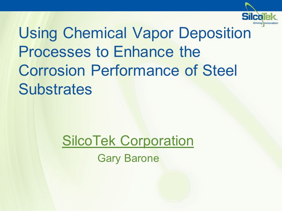 SilcoTek Corporation Gary Barone