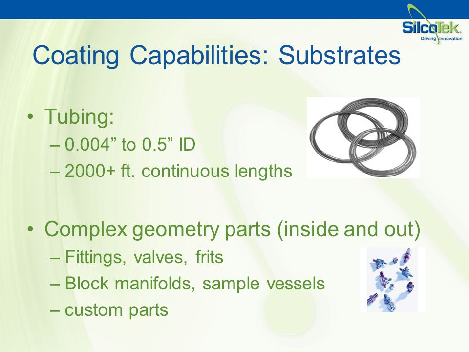 Coating Capabilities: Substrates