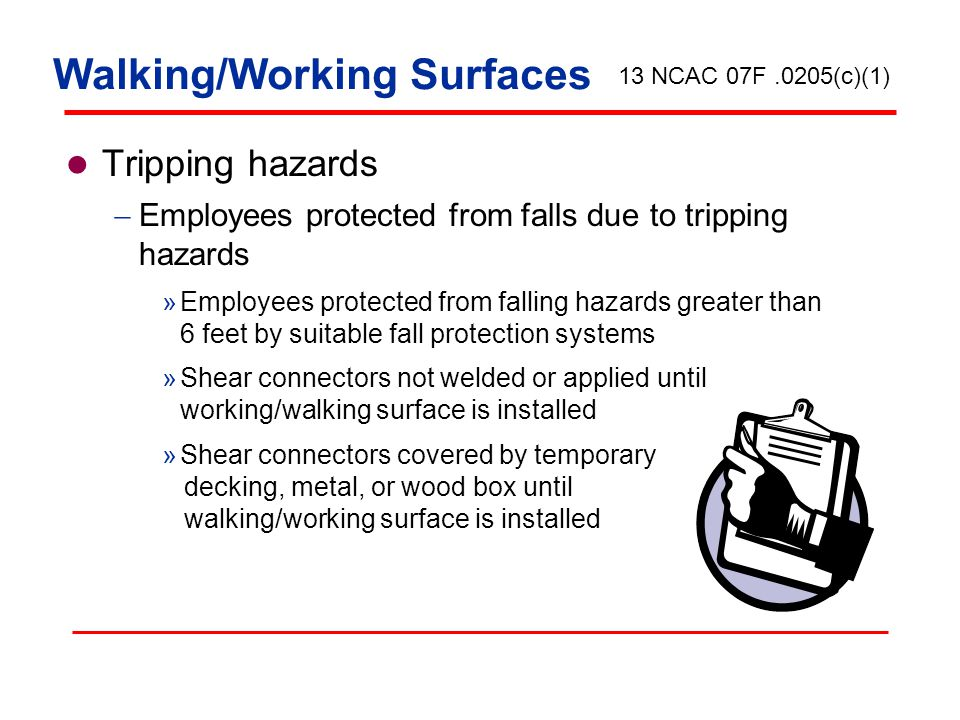 Walking/Working Surfaces