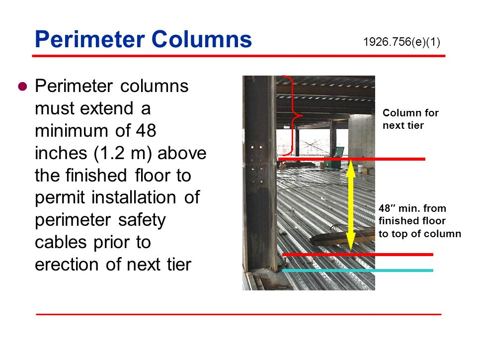Perimeter Columns 1926.756(e)(1)