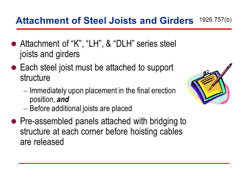 Attachment of Steel Joists and Girders