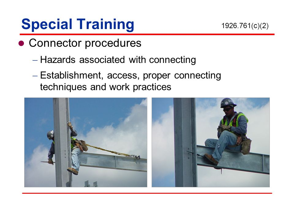 Special Training Connector procedures