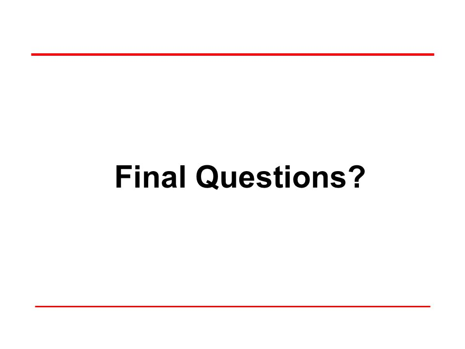 Final Questions 62