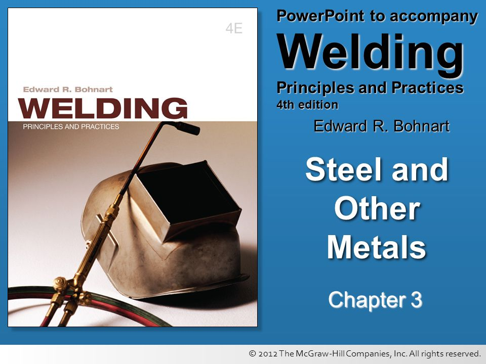 Steel and Other Metals Chapter 3