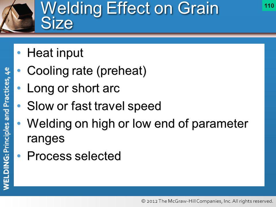 Welding Effect on Grain Size