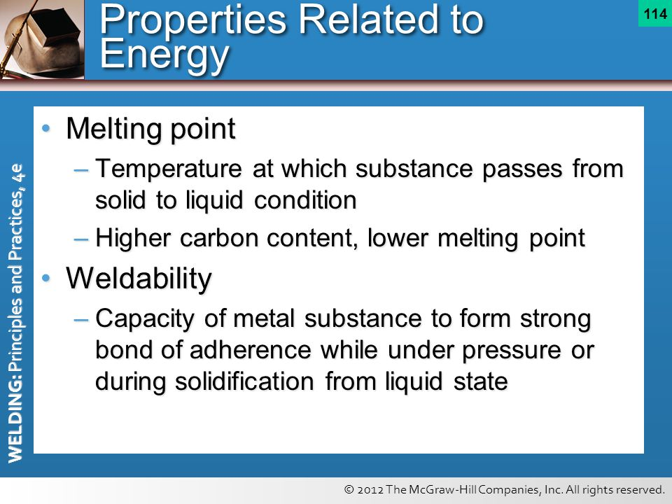 Properties Related to Energy