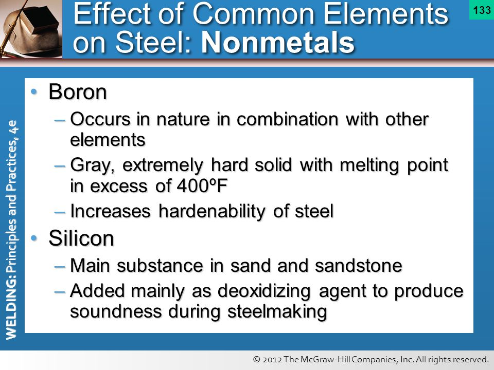 Effect of Common Elements on Steel: Nonmetals