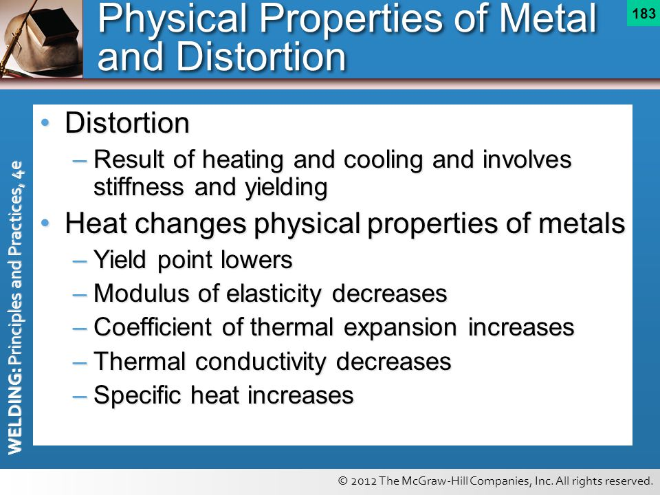 Physical Properties of Metal and Distortion
