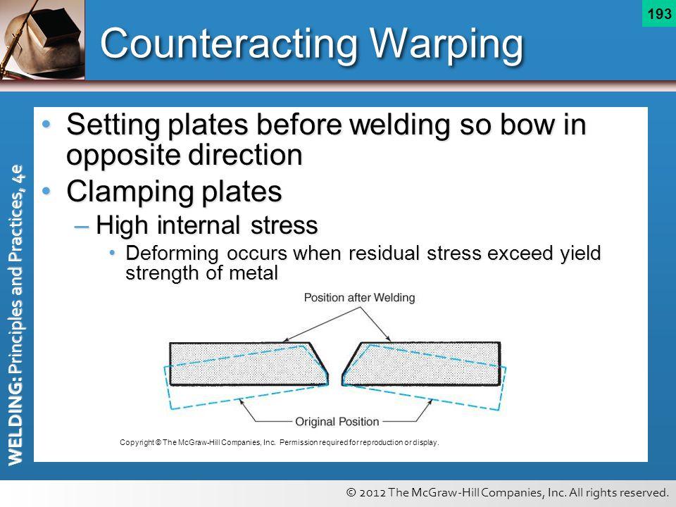 Counteracting Warping