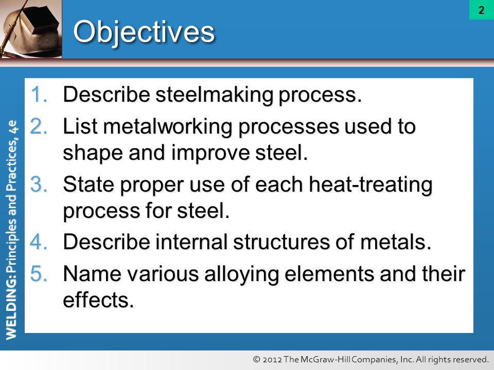 Objectives Describe steelmaking process.