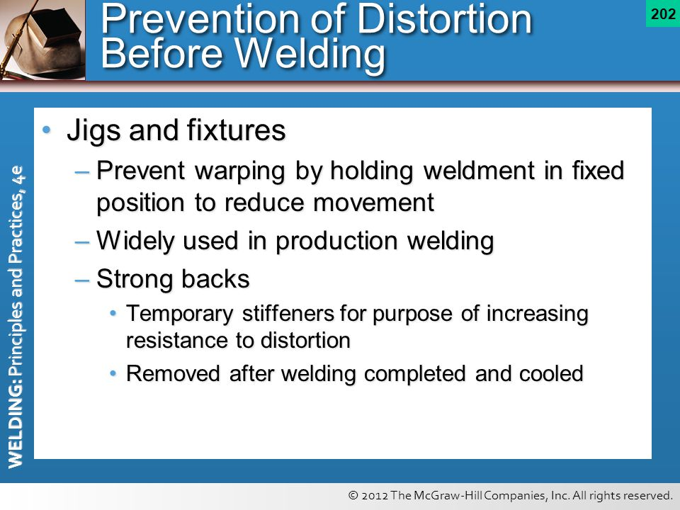 Prevention of Distortion Before Welding