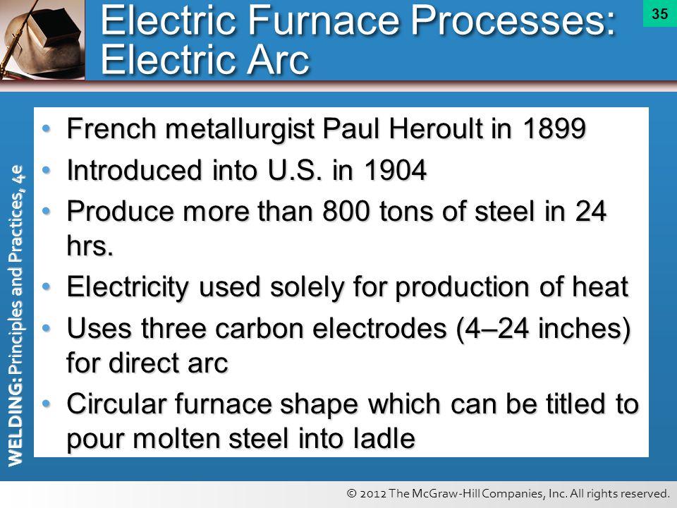 Electric Furnace Processes: Electric Arc