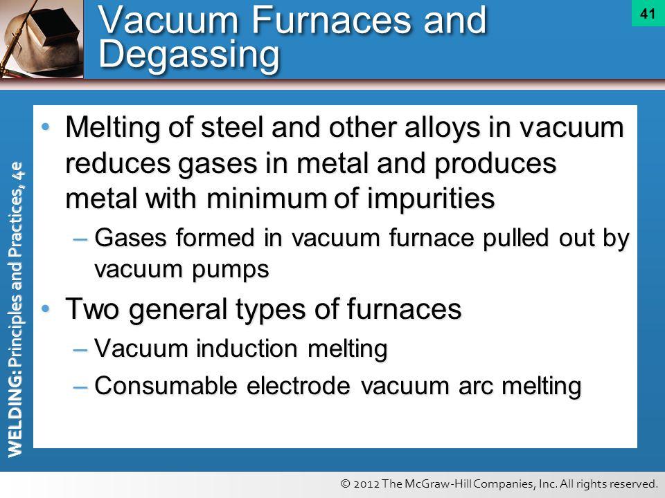 Vacuum Furnaces and Degassing