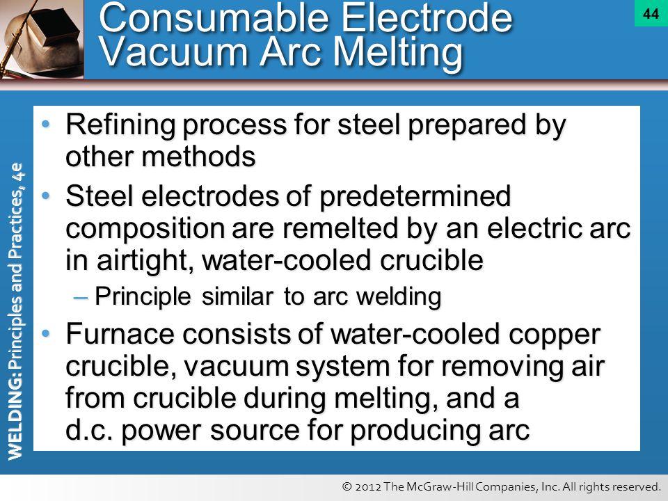 Consumable Electrode Vacuum Arc Melting
