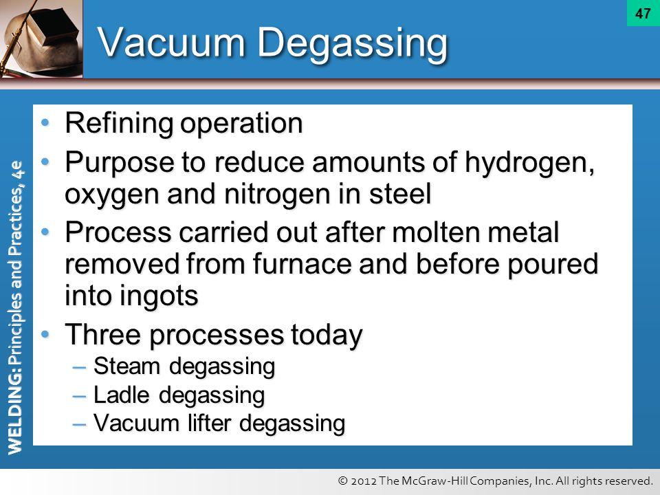 Vacuum Degassing Refining operation