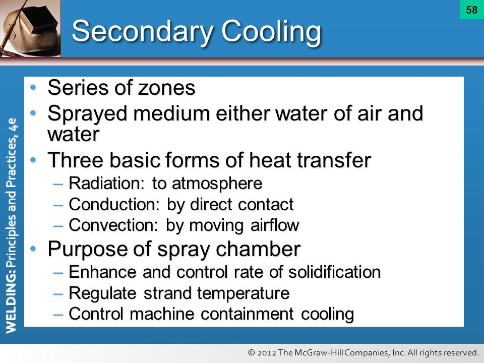 Secondary Cooling Series of zones