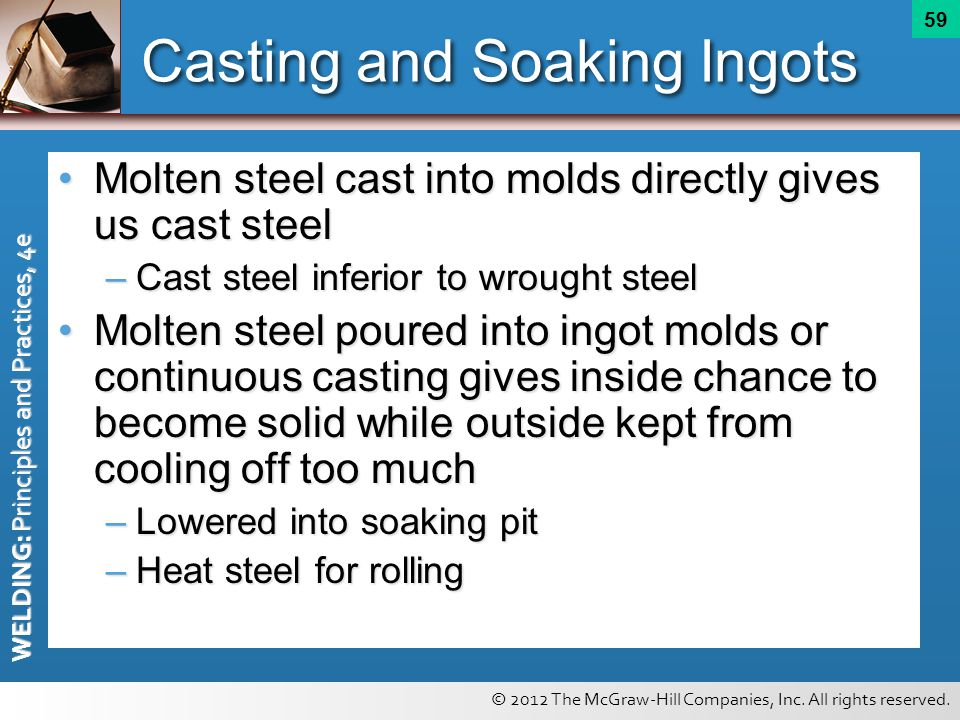 Casting and Soaking Ingots