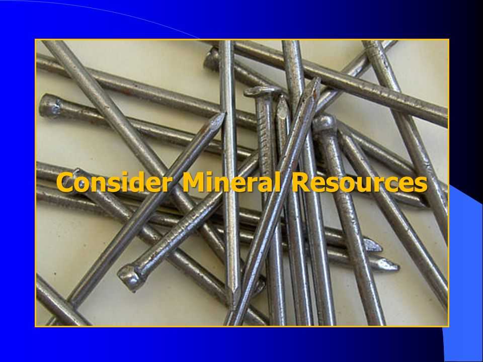 Consider Mineral Resources