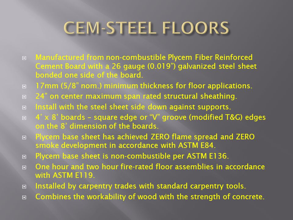 CEM-STEEL FLOORS