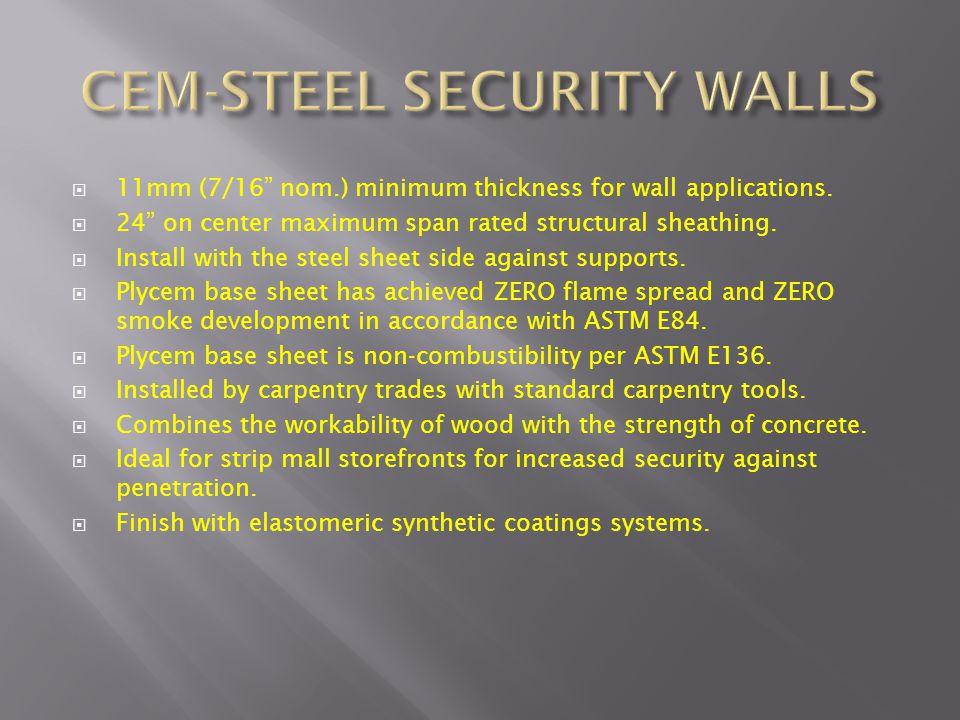 CEM-STEEL SECURITY WALLS