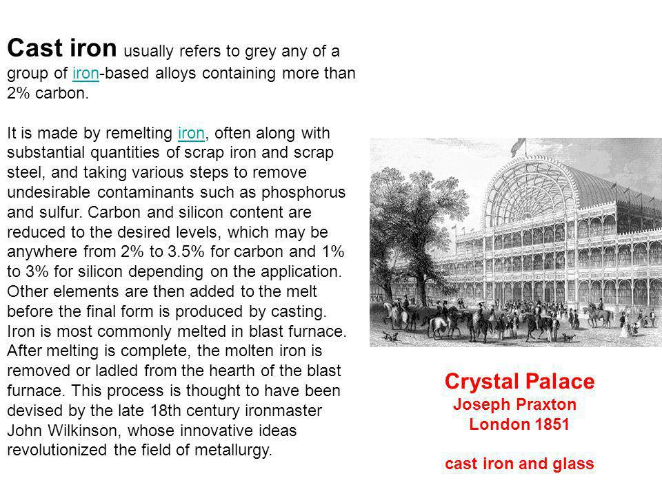 Cast iron usually refers to grey any of a group of iron-based alloys containing more than 2% carbon.