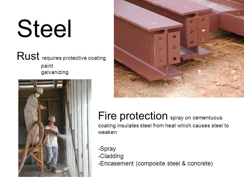 Steel Rust requires protective coating paint galvanizing