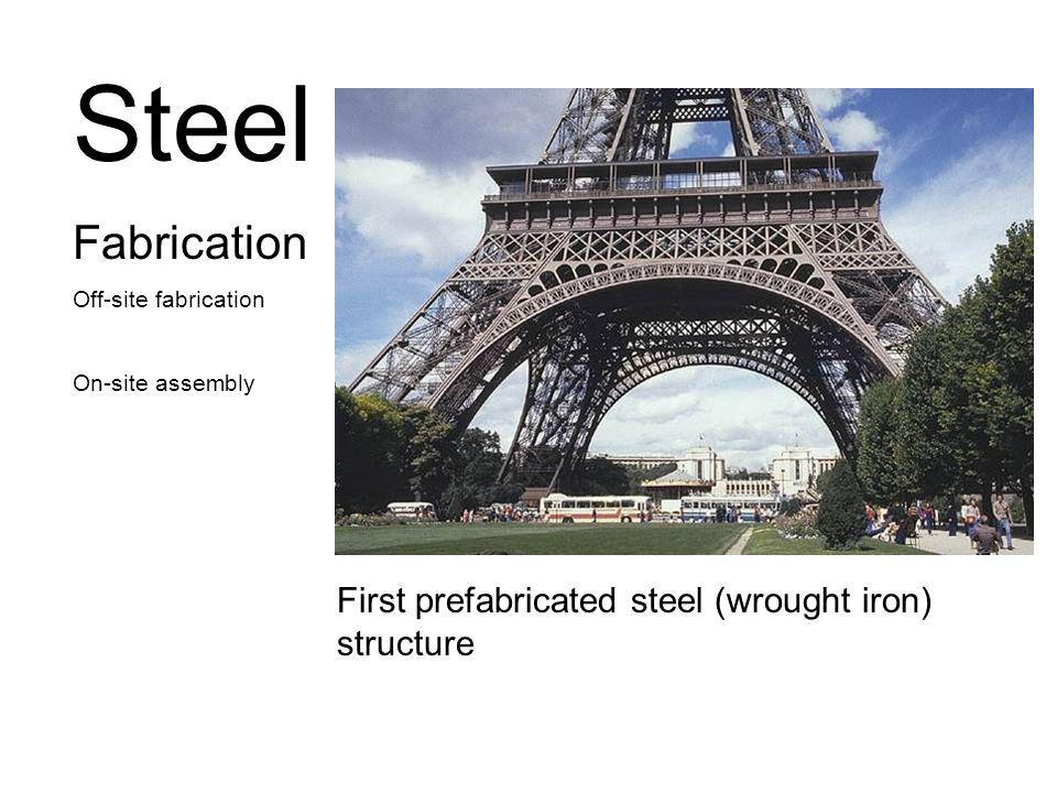 Steel Fabrication First prefabricated steel (wrought iron) structure