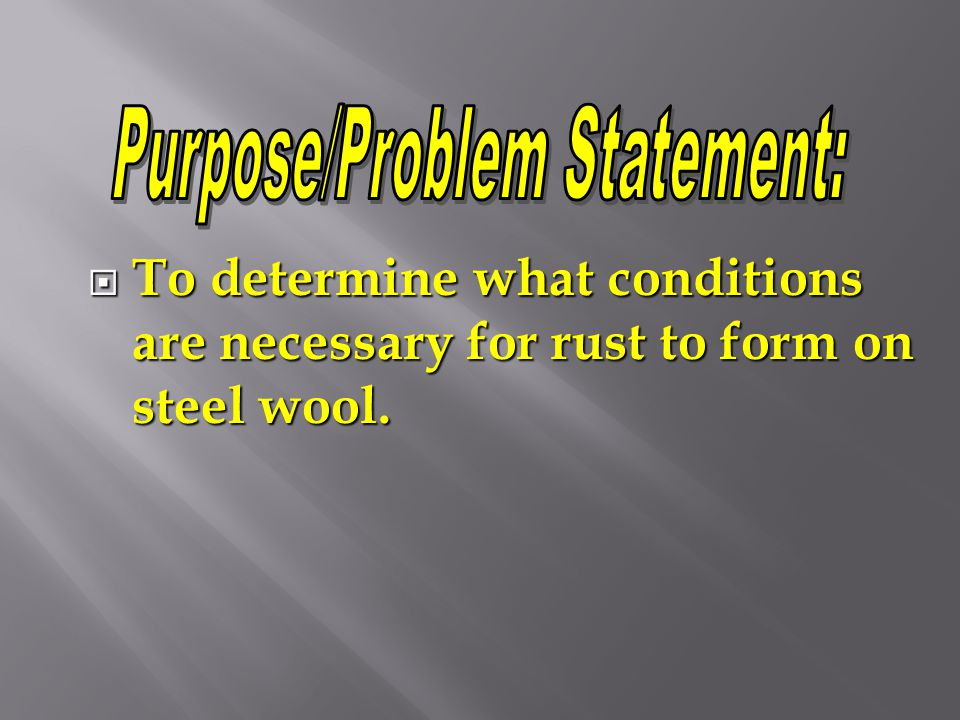 Purpose/Problem Statement: