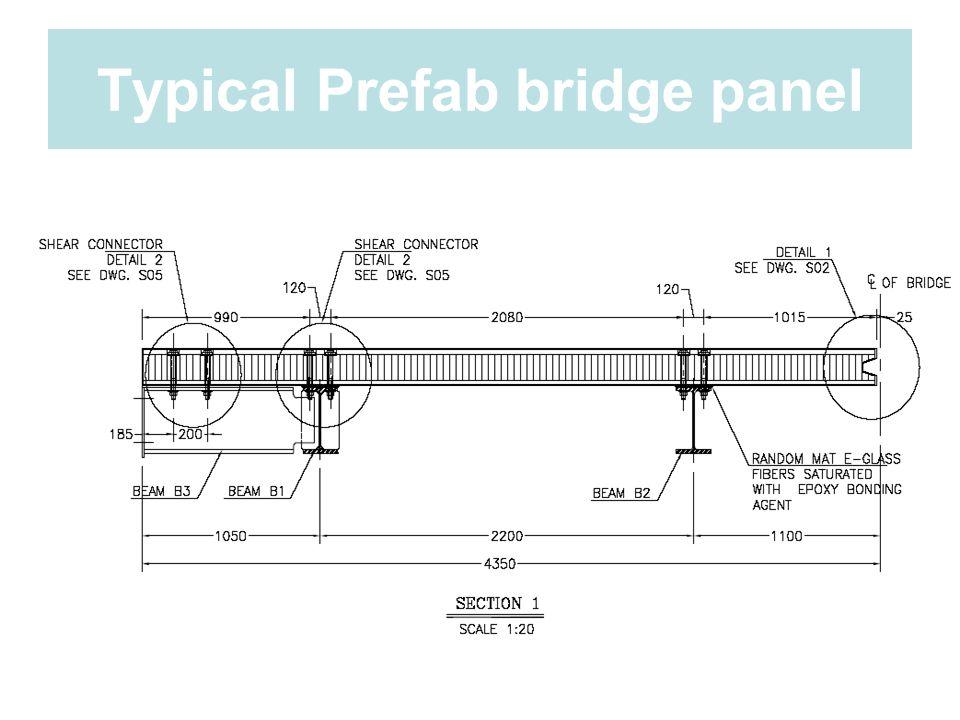 Typical Prefab bridge panel