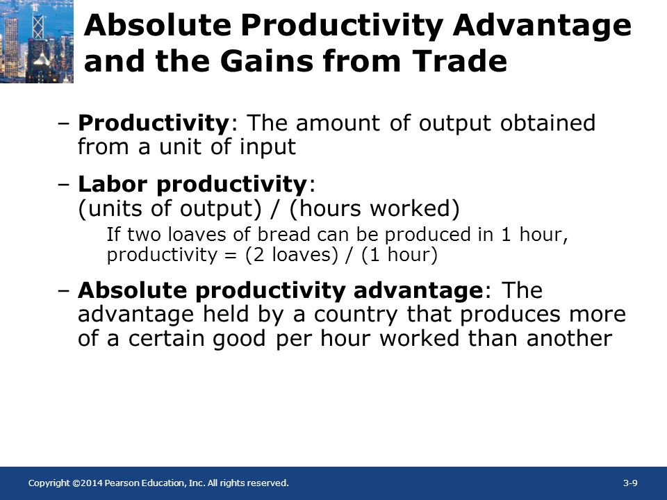 Absolute Productivity Advantage and the Gains from Trade