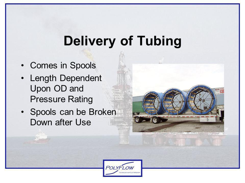 Delivery of Tubing Comes in Spools