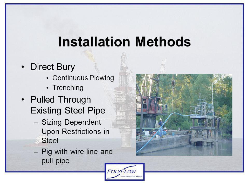 Installation Methods Direct Bury Pulled Through Existing Steel Pipe