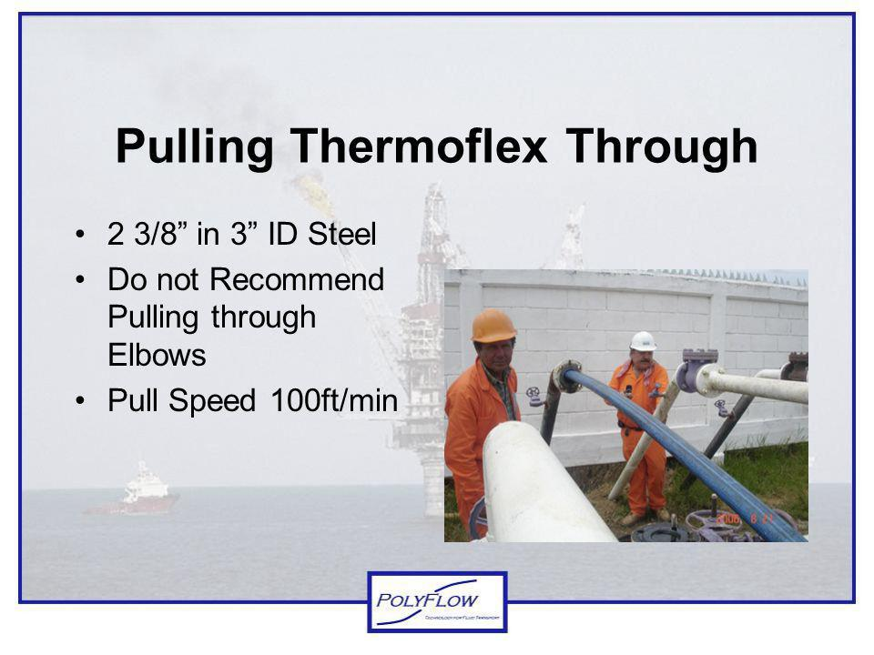 Pulling Thermoflex Through
