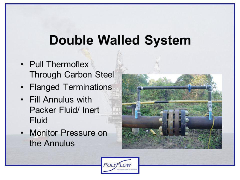 Double Walled System Pull Thermoflex Through Carbon Steel